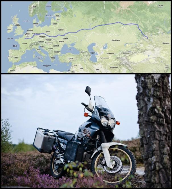 Barbara la Moto en Mongolie