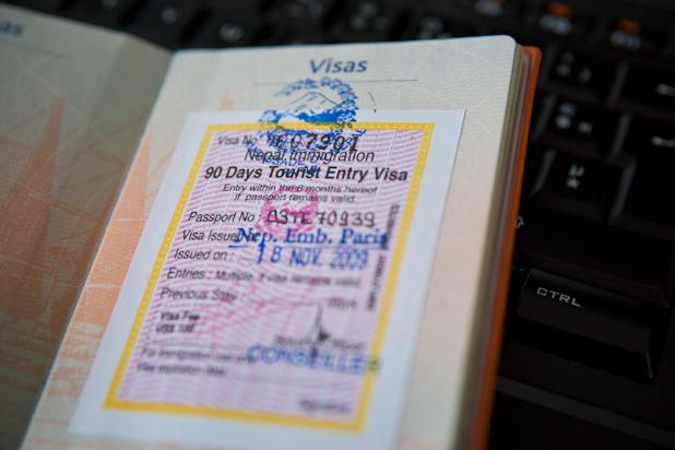 Visa pour le Nepal
