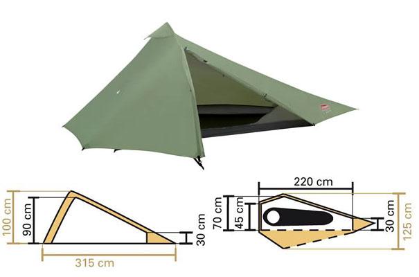 La tente : Flacon X1