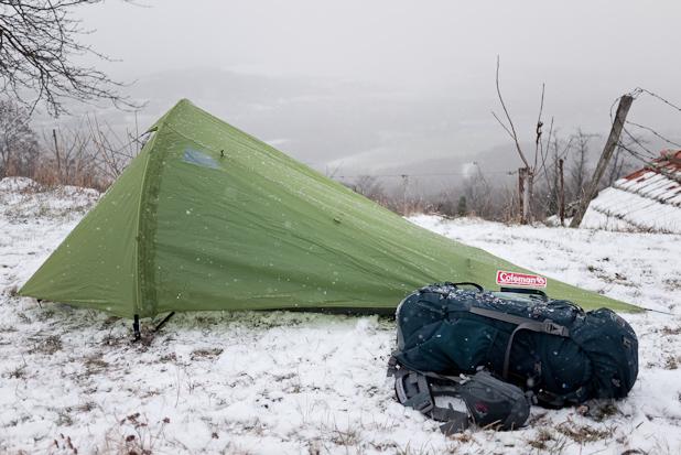 Test du materiel et de la tente