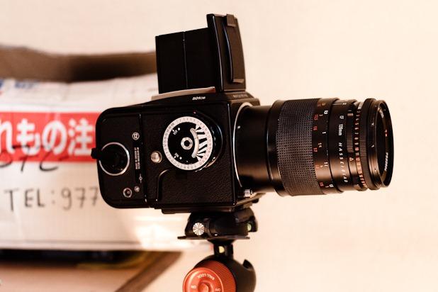 Hasselblad 501cm avec un 120mm f4 Plannar-Makro