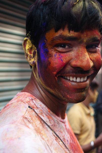 Quelques portraits de la Holi à Katmandou-2