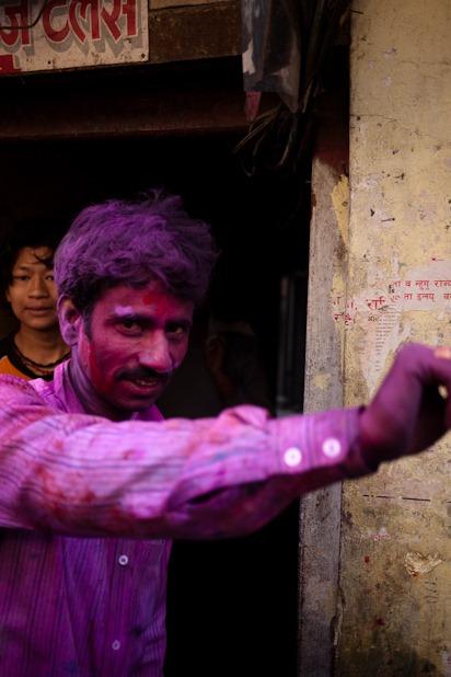 Quelques portraits de la Holi à Katmandou-4