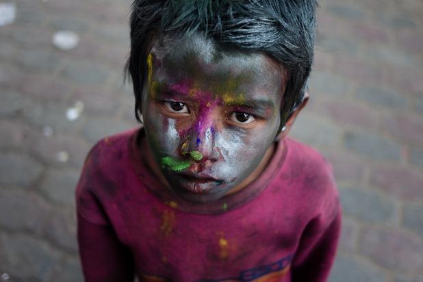 Quelques portraits de la Holi à Katmandou-5
