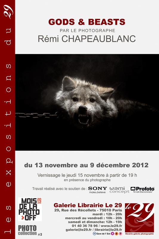 Exposition de Gods & Beasts à la galerie Le29