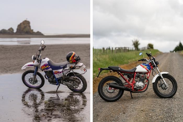 Les deux motos du projet